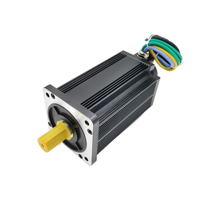 130mm Sine Wave High Torque CLOSE LOOP Brushless <font><b>dc</b></font> servo <font><b>motor</b></font> 48v <font><b>3KW</b></font> bldc <font><b>motor</b></font> for self guided AGV ROBOT image