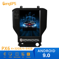 Android 9.0 Tesla Style Car Radio Vertical Screen For Ford Mustang 2015+ GPS Navigation Recorder Multimedia No CD Player