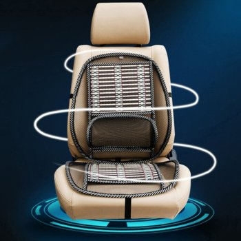 Summer Cooling Lumbar Universal Massage Cushion Breathable Cushion Car Wire Seat Cushion Cool Pad Auto Supplies image