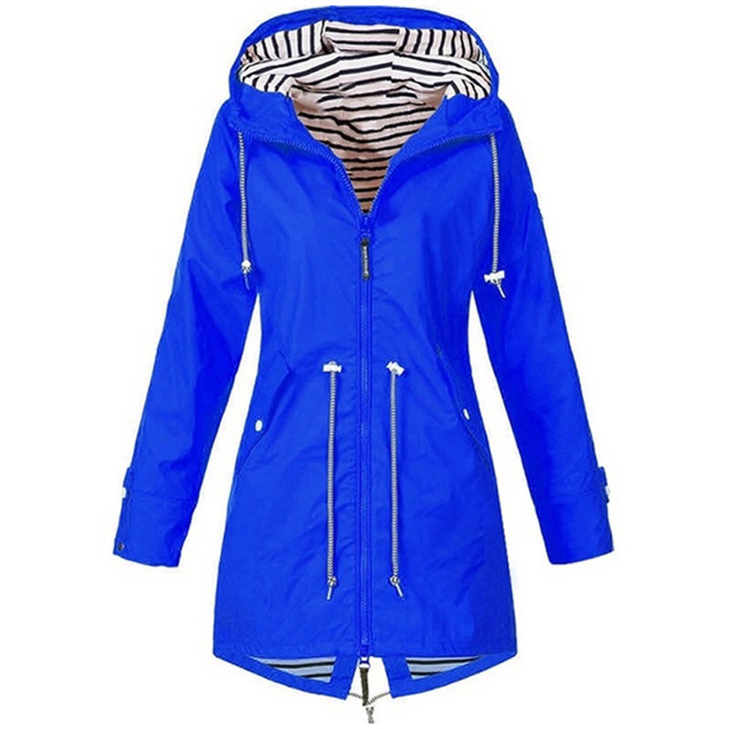 He5503d7897724f6ea8b977d61eb7a01et Women Jacket Coat Waterproof Windproof Transition Hooded Jackets Outdoor Hiking Clothes Outerwear Women's Lightweight Raincoat