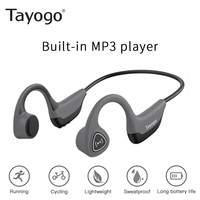 Tayogo S3 Fashion Bone Conduction Wireless Headset Mp3 Player for Sports Sweatproof Ear hook Long Battery HIFI Earphone with Mic