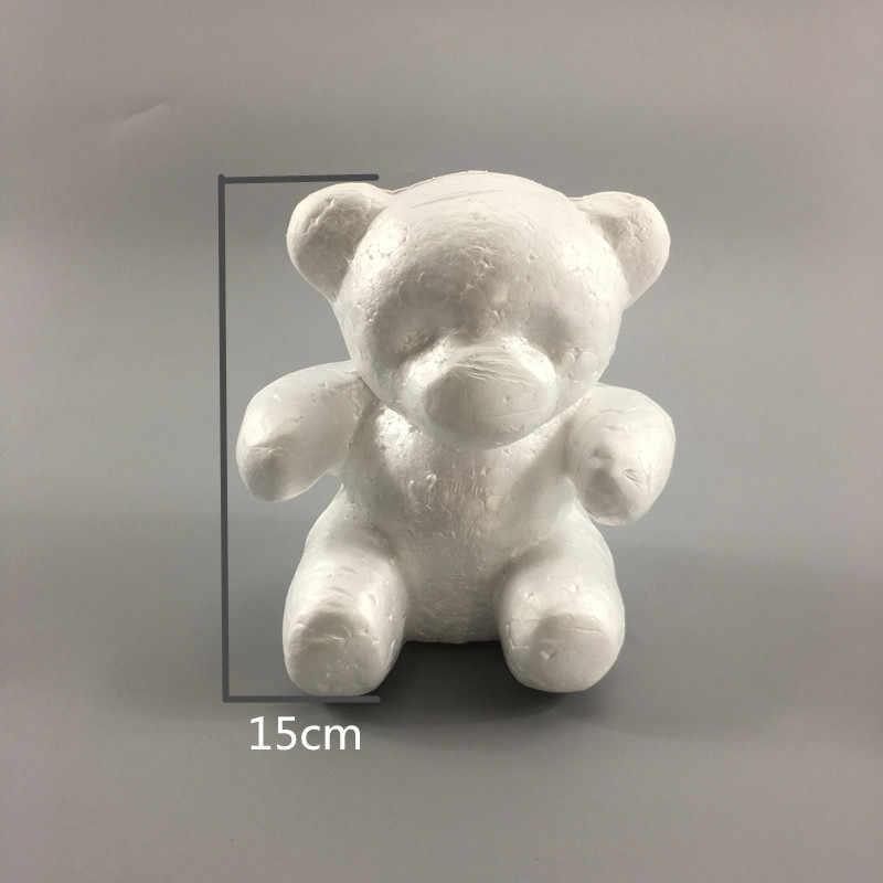 Dengan Harga Murah 1 Buah Busa Styrofoam Busa Beruang Putih Kerajinan Bola DIY Natal Pesta Dekorasi Hadiah