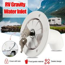 RV Accessories Fresh Water Fill Hatch Inlet Filter Lockable For Boat Camper Trailer White