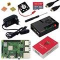 Оригинальный Raspberry Pi 3 Model B Plus с Wi-Fi и Bluetooth + чехол ABS + вентилятор процессора + питание 3A с выключателем вкл/выкл + радиатор Raspberry Pi 3B +