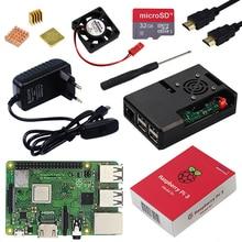 Оригинальный Raspberry Pi 3 Model B Plus с поддержкой Wi-Fi и Bluetooth + ABS чехол + Процессор вентилятор + 3A Мощность с вкл/выкл + теплоотвод Raspberry Pi 3B +