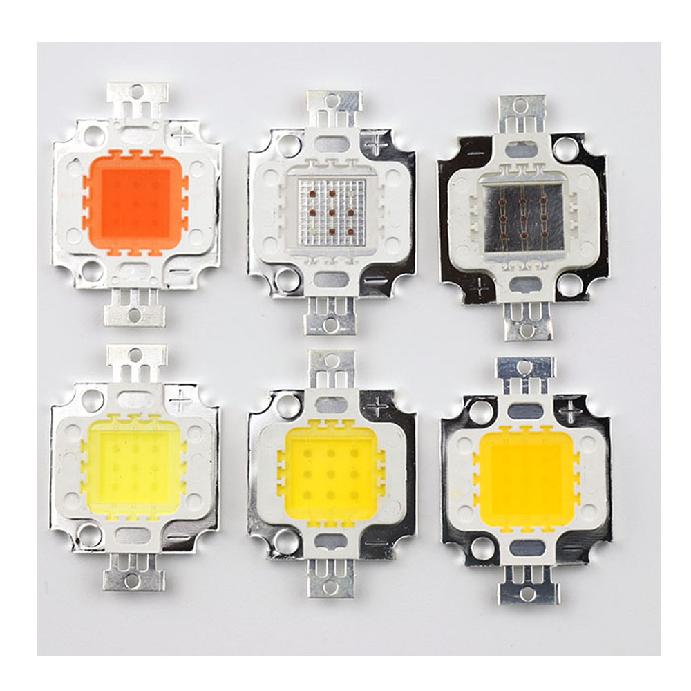 10W Lamp Bead Diode White/Warm White/Purple/Blue/Red/Green/Plant Grow Light Led Lights Copper Substrate 10Watt LED Chip Bulb SMD