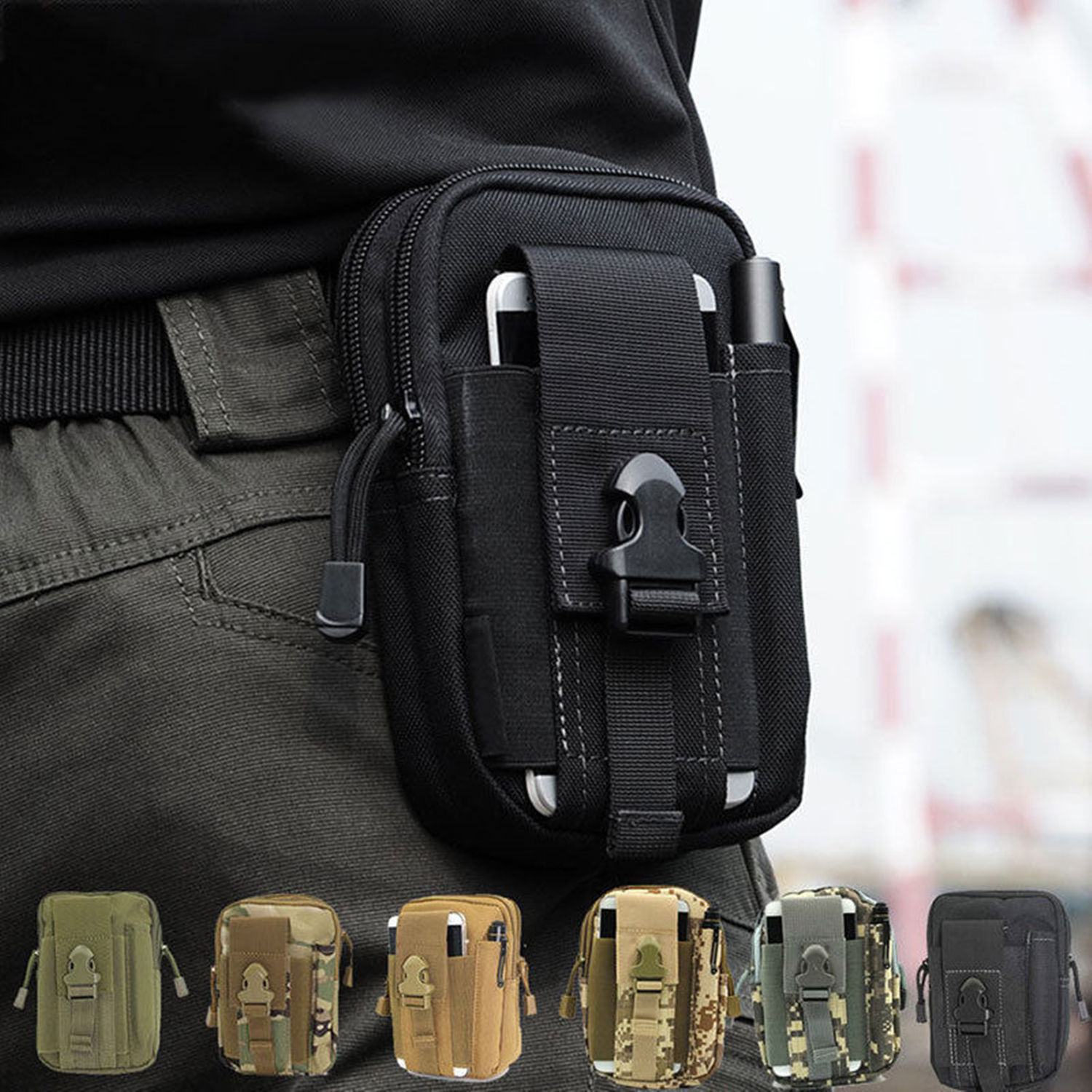 New 2020 Tactical Pouch Belt Waist Pack Bag Travel Military Waist Fanny Pack Phone Pocket Money Pouch