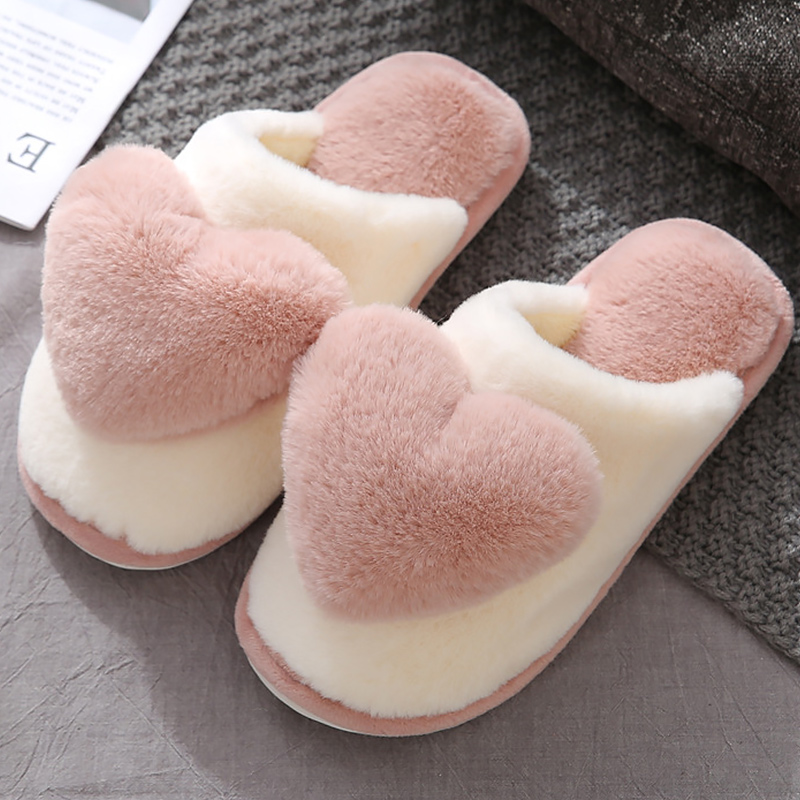 Pantufa Chinelos femininos com pele adorável coelho de pelúcia casa sapatos para mulher antiderrapante retalhos 2020 feminino chinelos interior inverno