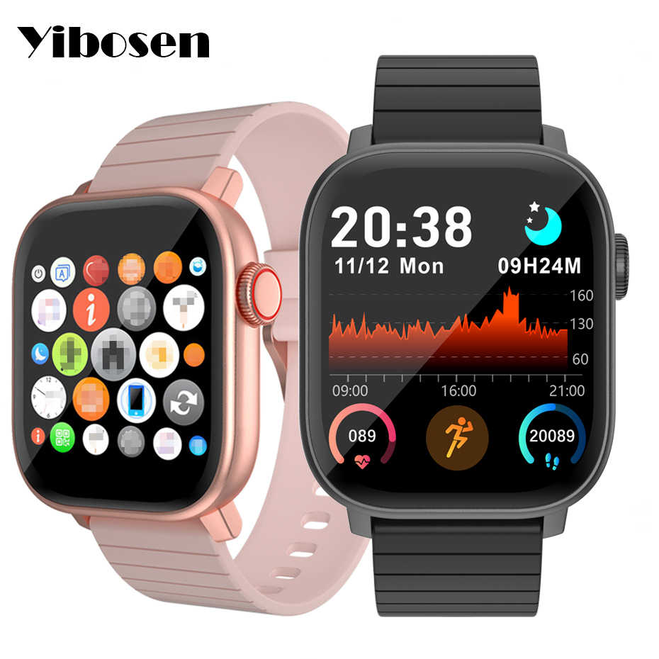 Yibosen 2020 Smart Watch 1 4 Bluetooth 5 0 Heart Rate Blood Pressure Monitor Hive Menu Rotary Button Smartwatch For Ios Android Smart Watches Aliexpress