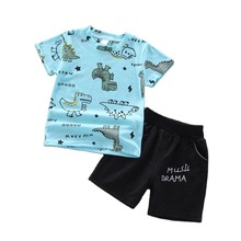 Cartoon T-Shirt Costume Shorts Cotton Tracksuit Toddler Girls Fashion Kid Children Boys