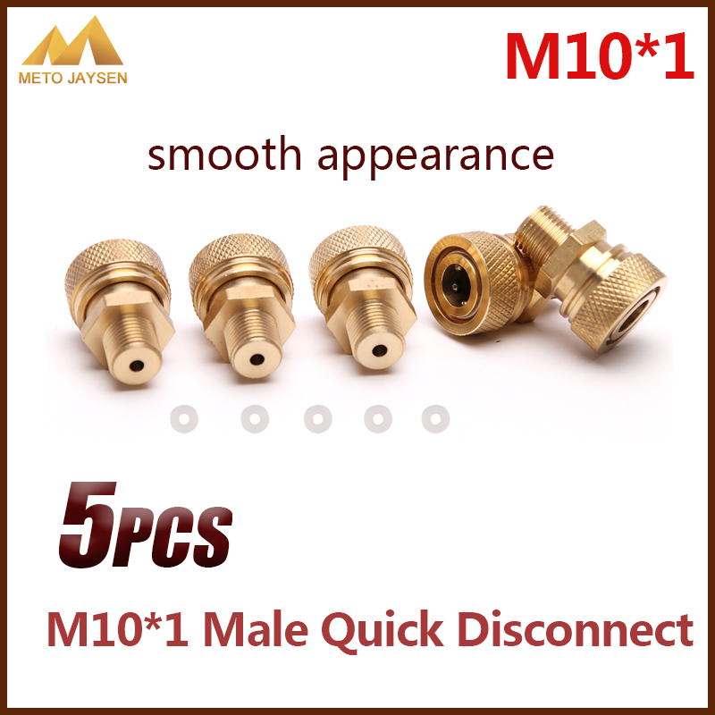 PCP Airforce Paintball M10x1 Male Quick Disconnect 8mm Air Refilling Coupling Connector Socket Copper 5pcs/set