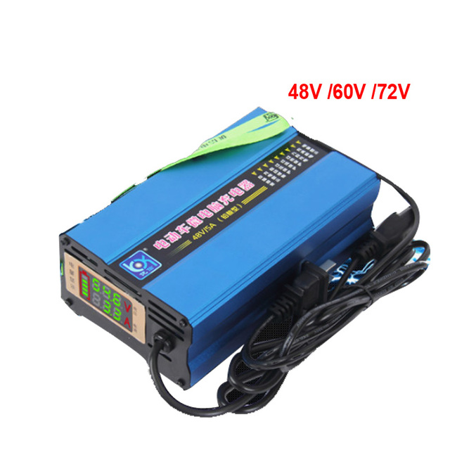 48V 5A Charger With Digital LCD 48V 8A 60V 6A 4A 8A  Wet Dry Lead Acid for 72v 5A AGM GEL WET Lead Acid Battery with LCD Display