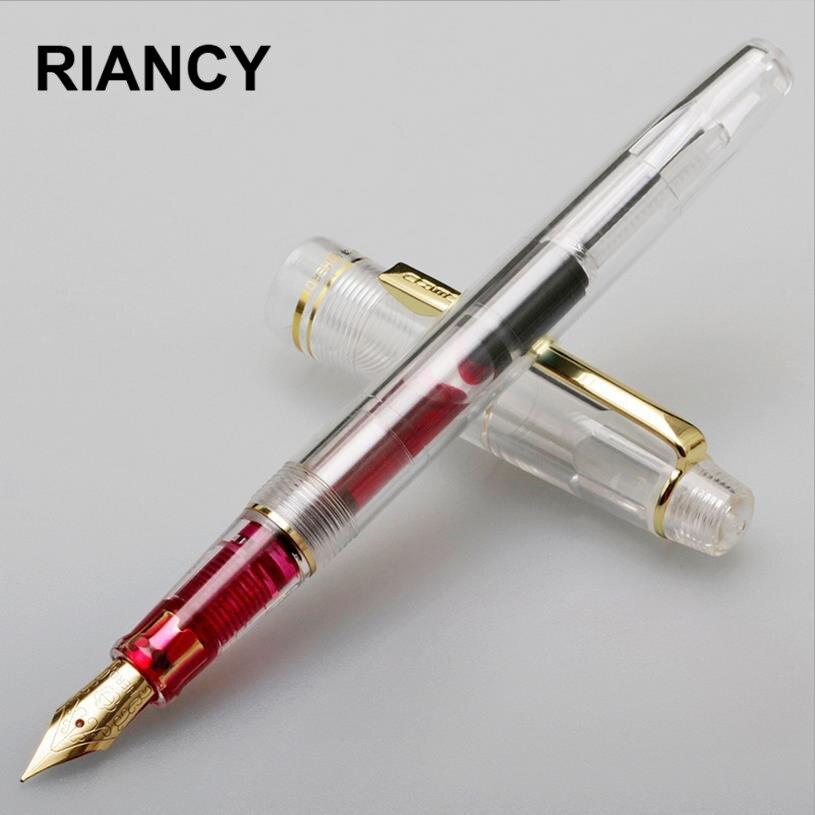 Высокое качество Прозрачный Ираурита Перьевая ручка чернилами перо 0.38 мм Penna stilografica класса люкс Caneta tinteiro Stylo plume 03840
