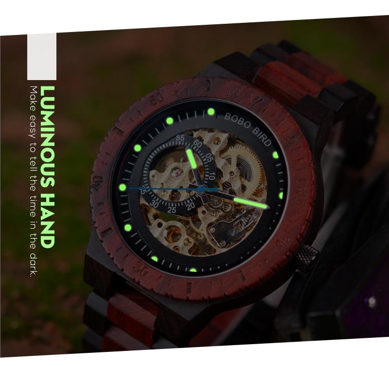 de pulso multifuncionais relógios de madeira relogio