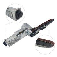Durable Air Belt Sander Pneumatic Machine Reusable For Grinding Polishing + 25 Belts 330mm×10mm Home Garden Supplies