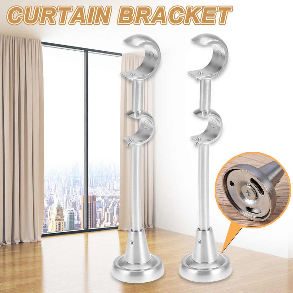 curtain stand 20mm 25mm double curtain rod brackets drapery pole holder heavy duty for home bedroom hook up furniture hardware