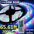 3/5/10/20 м Светодиодные ленты IP33 RGB SMD 3528 полосы светодиодный светильник гибкий ленточный светильник полоса DC 12V RGB Диодная лента ИК-контроллер а...