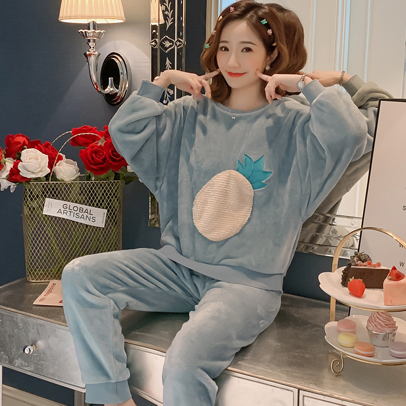 Betyline 2019 New Winter Pajamas For Women Sleepwear Warm Flannel Long Sleeves Pajamas Cute Animal Homewear Thick Homewear 184