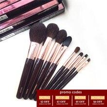 Полный набор кисточек для макияжа 8 шт. бронзер, румяна, пудра и тональная основа, блендер для глаз, подводка для размазывания, косметические инструменты для губ