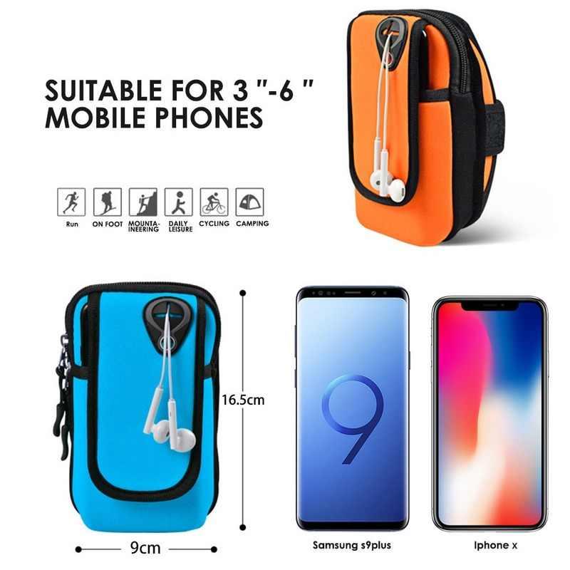 Kol bandı kılıfı spor cep telefon tutucu için Asus Rog telefon 2 Samsung A50 Xiao mi mi A3 Cc9 üzerinde el çalışma bel kemeri kılıf çanta