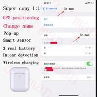 2019 neue 1:1 Super Kopie i99999 tws drahtlose Bluetooth kopfhörer 5,0 drei echten batterie in-ohr kopfhörer beste chip pk hey siri