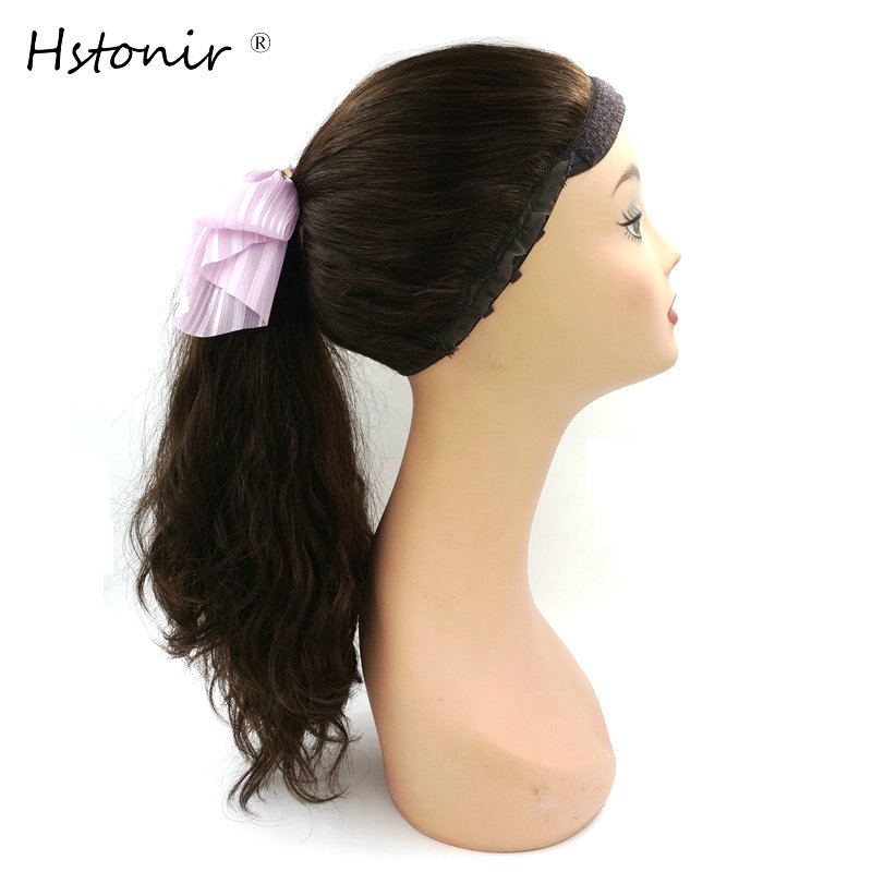 Hstonir European Remy Hair Pony Wig Sport Band Fall Head Fall Jewish Wunder Wig Kosher Hair Sheitel J004
