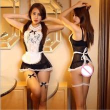 Горничная униформа медсестры костюмы ролевые игры для женщин косплей сексуальное пикантное женское бельё нижнее белье Милые женские кружевные эротические костюмы платье