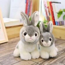 Plüsch Simulation Kaninchen Puppe Baby Spielkameraden Tier Stofftiere Plüsch Kaninchen Spielzeug Kid Cartoon Geschenk Urlaub Lustige Puppen NTDIZ0001