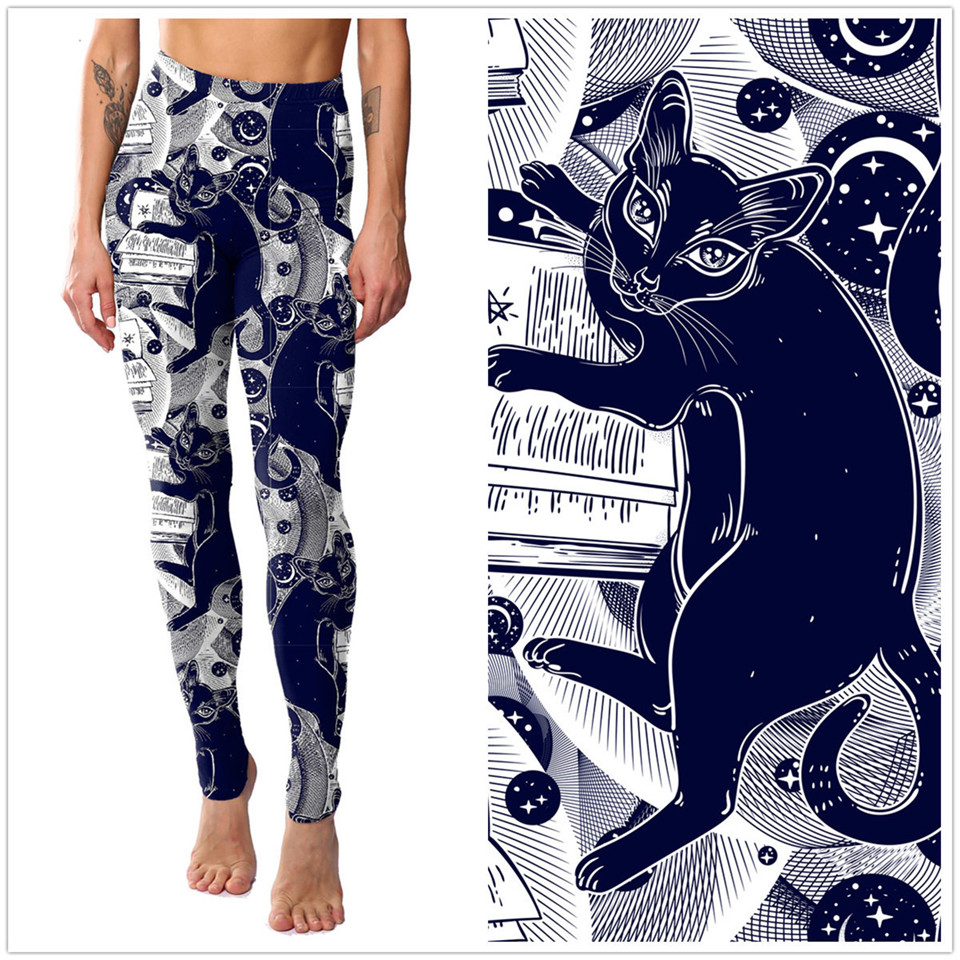 Cat Themed Plus Size Leggings