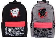 Cartoon Tokyo Ghoul Cosplay Anime kaneki ken Bookbag Backpack Canvas Zipper Schoolbag Travel Bags Satchel Purse Laptop Bag Gift(China)