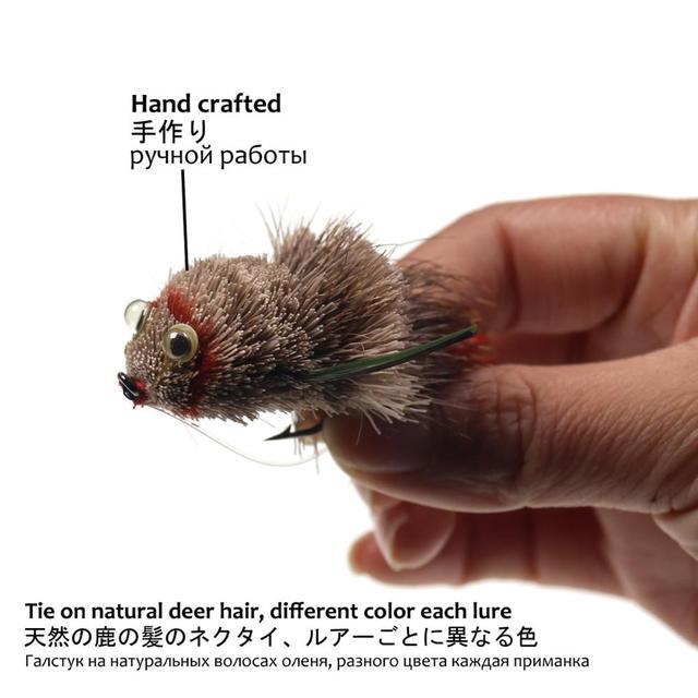 Amazing Wifreo Fly Fishing Deer Hair Bass Bug Mouse 100% Original Fishing Lures cb5feb1b7314637725a2e7: 1 bass bug|1 mouse