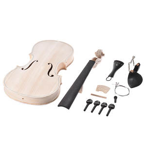 Full-Size Violin-Kit Fingerboard Top-Maple Solid-Wood Acoustic Fiddle Eq-Spruce Natural
