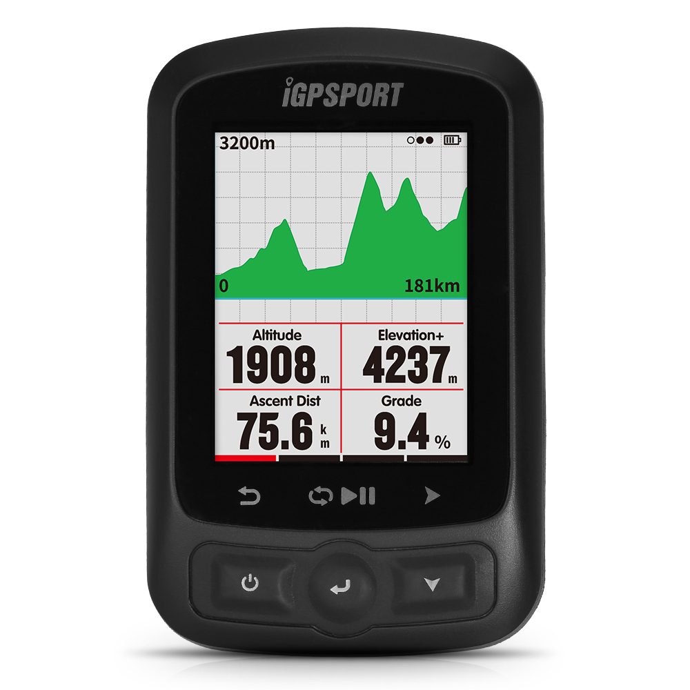 iGPSPORT <font><b>Bike</b></font> Computer Cycling <font><b>GPS</b></font> Computer IGS618 ANT+ Function with Road <font><b>Map</b></font> Navigation Cycling Bicycle Odometer with Mount image