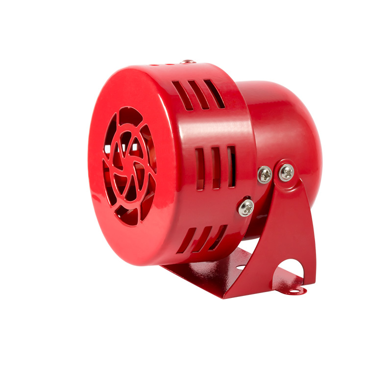 "12V 3"" Automotive Air Raid Siren Horn Car Truck Motor Driven Alarm Red"