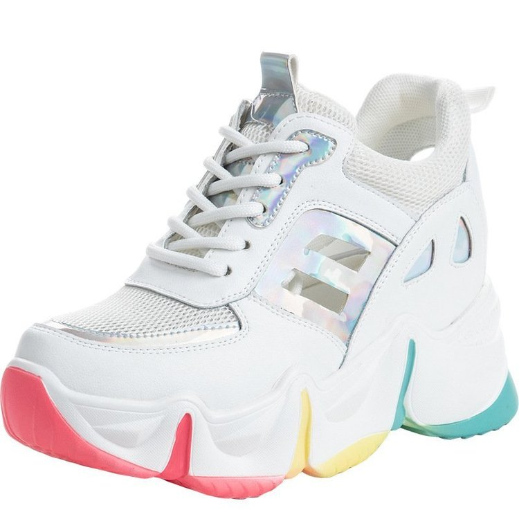 Summer Women Sneakers Vulcanize Breathable Rainbow Color Fashion Casuals Height Increasing Female Chunky Ladies Shoes 2020 Hot