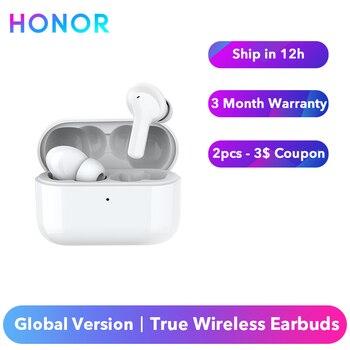 Original Honor Earbuds Choice prawdziwe bezprzewodowe wkładki douszne X1 słuchawki Stereo Bluetooth 5.0 wodoodporna podwójna redukcja szumów