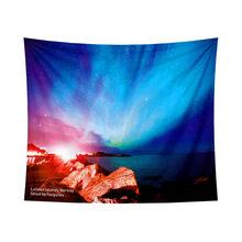Hippie Retro Home Decor Galaxy Aurora Hanging Wall Tapestry Yoga Beach Mat 3D Print Home Decor Space Pattern Wall Rug Tapestries butterfly print home decor wall hanging tapestry