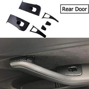 14 шт., автомобильный Внутренний дверной подлокотник, кнопка Подъема Окна, накладка, комплект для Tesla, модель 3 2018 2019, стеклоподъемная крышка, отделка