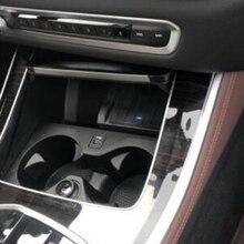 10W araba QI kablosuz şarj cihazı BMW X5 G05 2019 2020 şarj plakası telefonu şarj cihazı aksesuarları için iPhone için samsung