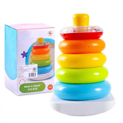 Детские игрушки для детей от 6 до 12 месяцев, радужные кольца, Игрушки для раннего развития для малышей, игрушки для малышей, малыш, игрушки дл...
