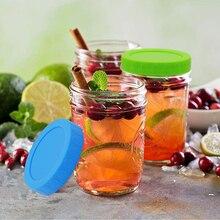 Бытовая Пищевая Крышка для сохранения свежести для стеклянной банки пластиковая Герметичная крышка Силиконовое кольцо кухонные принадлежности