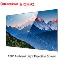 Changhong CHIQ 100 pouces lumière ambiante rejetant l'écran Anti-lumière pour le projecteur laser projecteur
