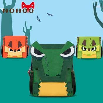 NOHOO Children School Bags for Boys Girls Cartoon Dragon School Backpack Orthopedic Waterproof Book Bag for 5-9 Year