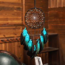 Ловец снов синего цвета, светодиодный светильник в этническом стиле, украшение комнаты, Ловец снов, реквизит для фотографий, декор для балко...