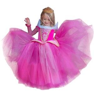 Платье принцессы для девочек, детский Рождественский праздничный костюм для девочек, одежда для девочек, детская одежда в стиле Фэнтези, ба...