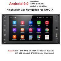 "7 ""Android 9 0 Ouad Core 1G + 16G 2 Din für Toyota RAV4 Auto Audio Stereo GPS navigation Radio Auto Multimedia Steuergerät-in Auto-Multimedia-Player aus Kraftfahrzeuge und Motorräder bei"