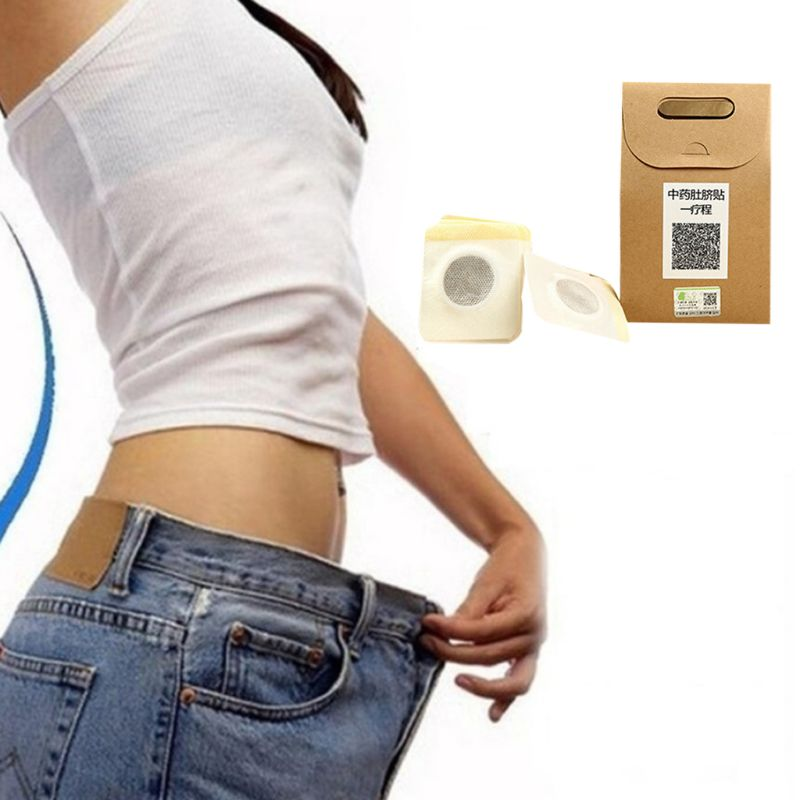 10Pcs/Box Chinese Medicine Weight Loss Slimming Diets Patches Navel Sticker Magnetic Detox Adhesive Sheet Fat Burning Pads M89F