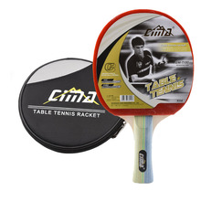 CIMA Table tennis racket with bag for beginner Shake-Hand Ddouble Pimples-in rubber Ping Pong Training Racket table tennis rackets original joola rhyzm p table tennis rubber table tennis rackets racquet sports