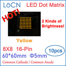 8x8 8*8 5mm Dot Matrix LED Display Module 60*60mm YELLOW High Bright Common Anode Common Cathode 60mm 2088 Digital Tube Sample