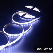 цена на Free Shipping New 5m SMD 3528 Flexible IP65 Waterproof 600 LED Strip Light Cool White Warm White